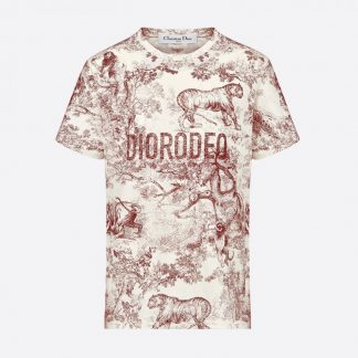 "Dior ""Diorodeo"" tshirt burgundy Rent Hire"