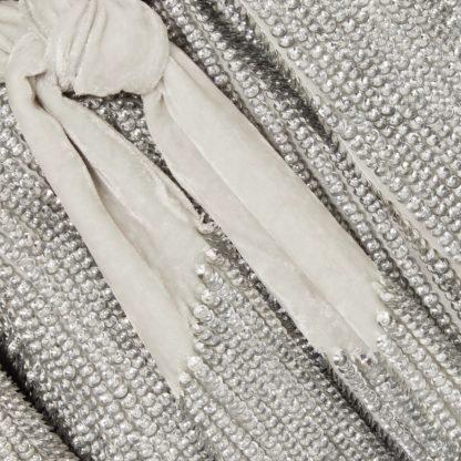 Retrofete Gabrielle Silver Sequin Wrap Dress Rent Hire