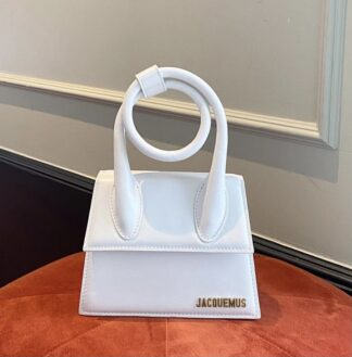 Jacquemus white Le chiquito leather hire rent