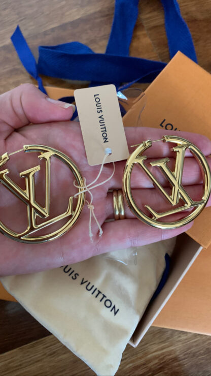 Louis Vuitton Louise Hoop Earrings Hire Rent
