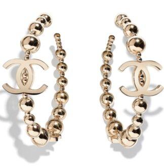 Chanel 2021 Hoop CC earrings Hire Rent Gold Logo