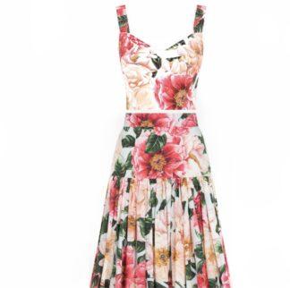 Dolce Gabbana Camilla Print Maxi Skirt Set Rent Hire
